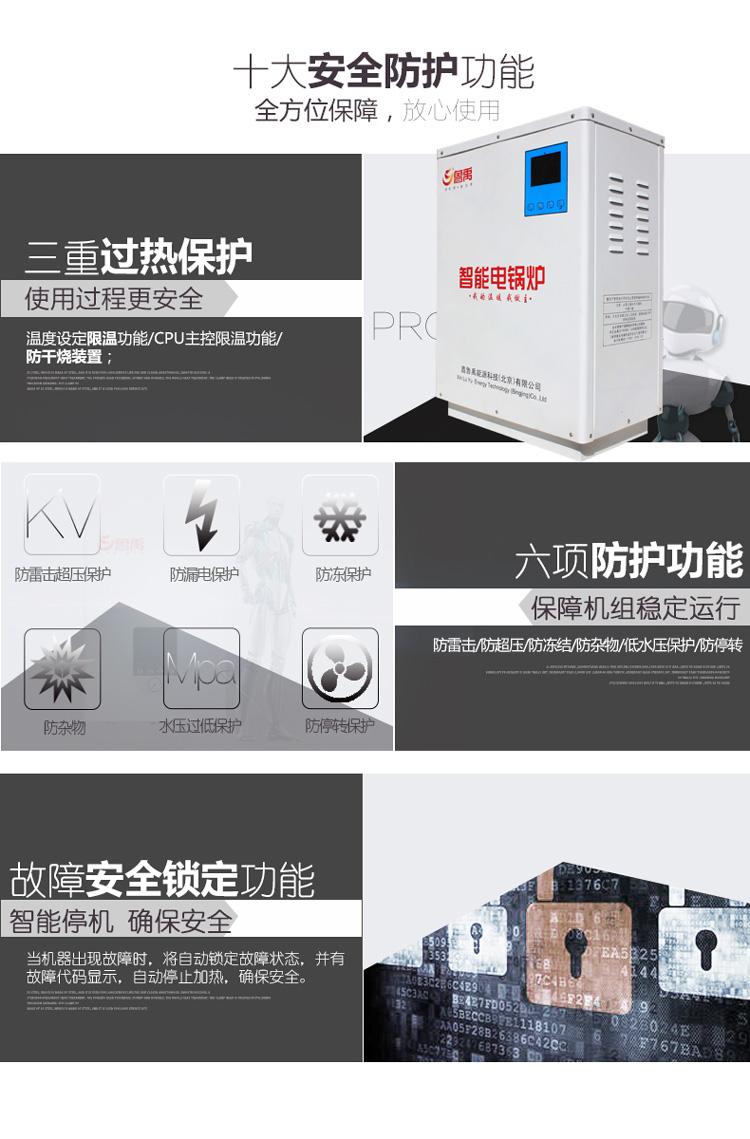 鲁禹智能工业电锅炉十大安全防护