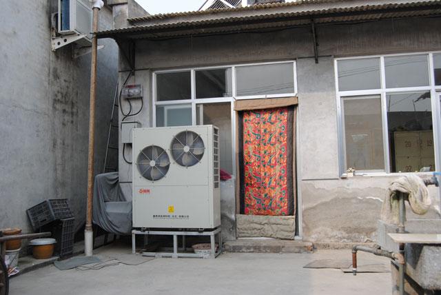 北京农村采暖用90平米空气源热泵价格案例顺义区闫家营村国槐大街218号�O*香家